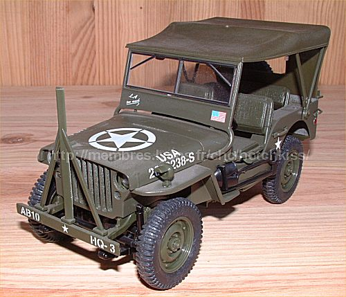 maquette jeep willys 1 18. Black Bedroom Furniture Sets. Home Design Ideas